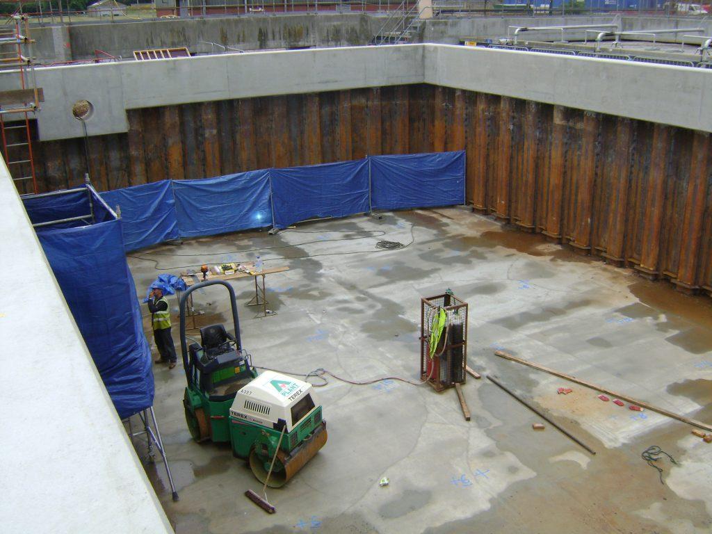 Steel Sheet Pile Aeration Tank Sheet Piling Uk Ltd