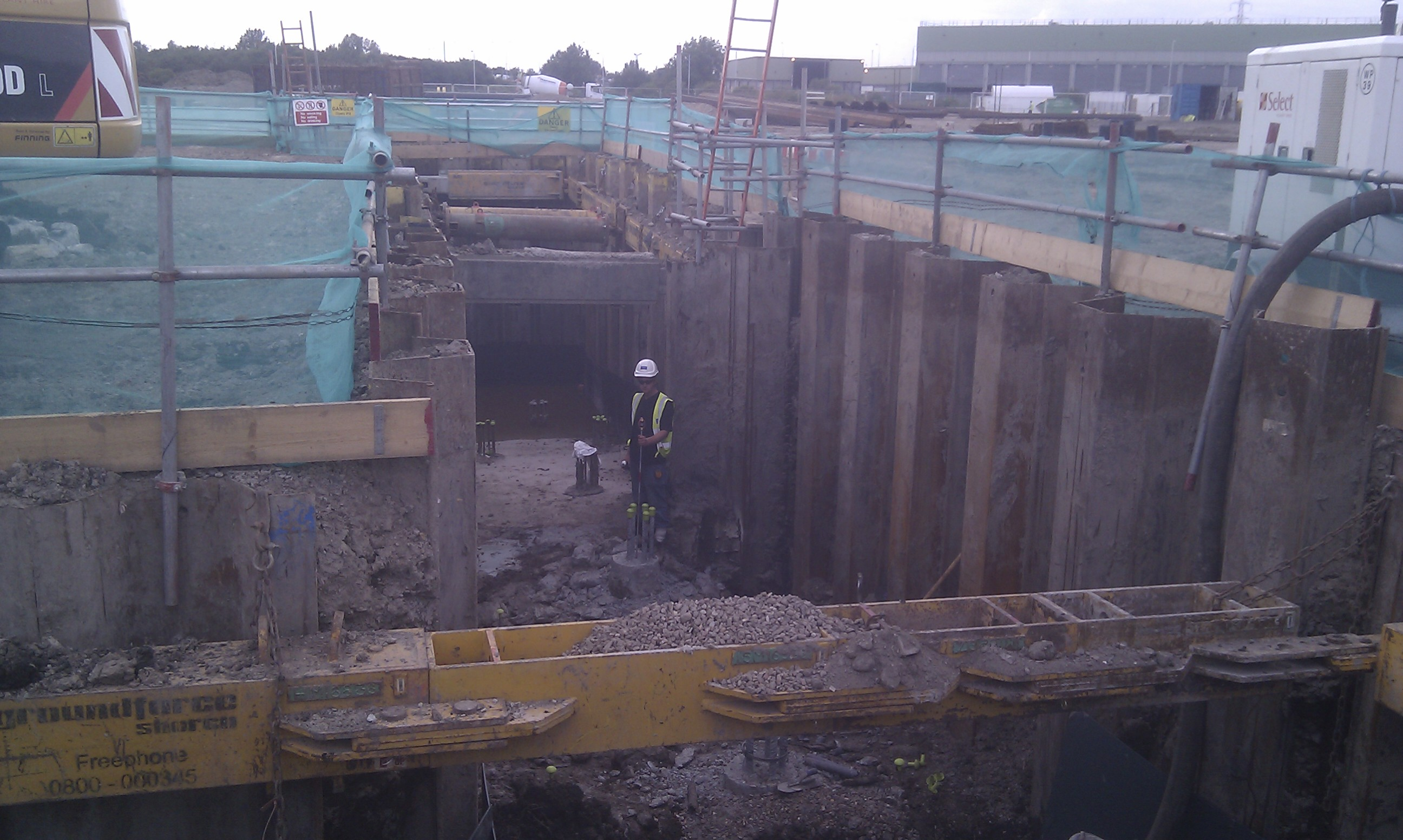 Sheet Piling Installation Beckton Stw London Sheet