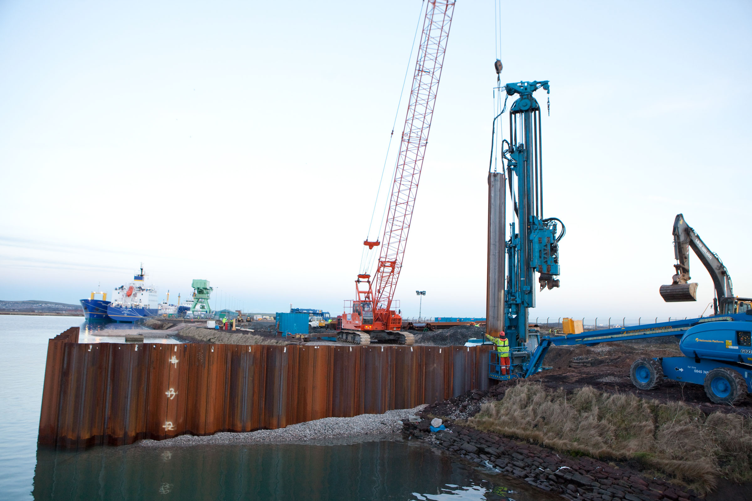 Arcelormittal Az Sheet Piles Temporary Strong Points For