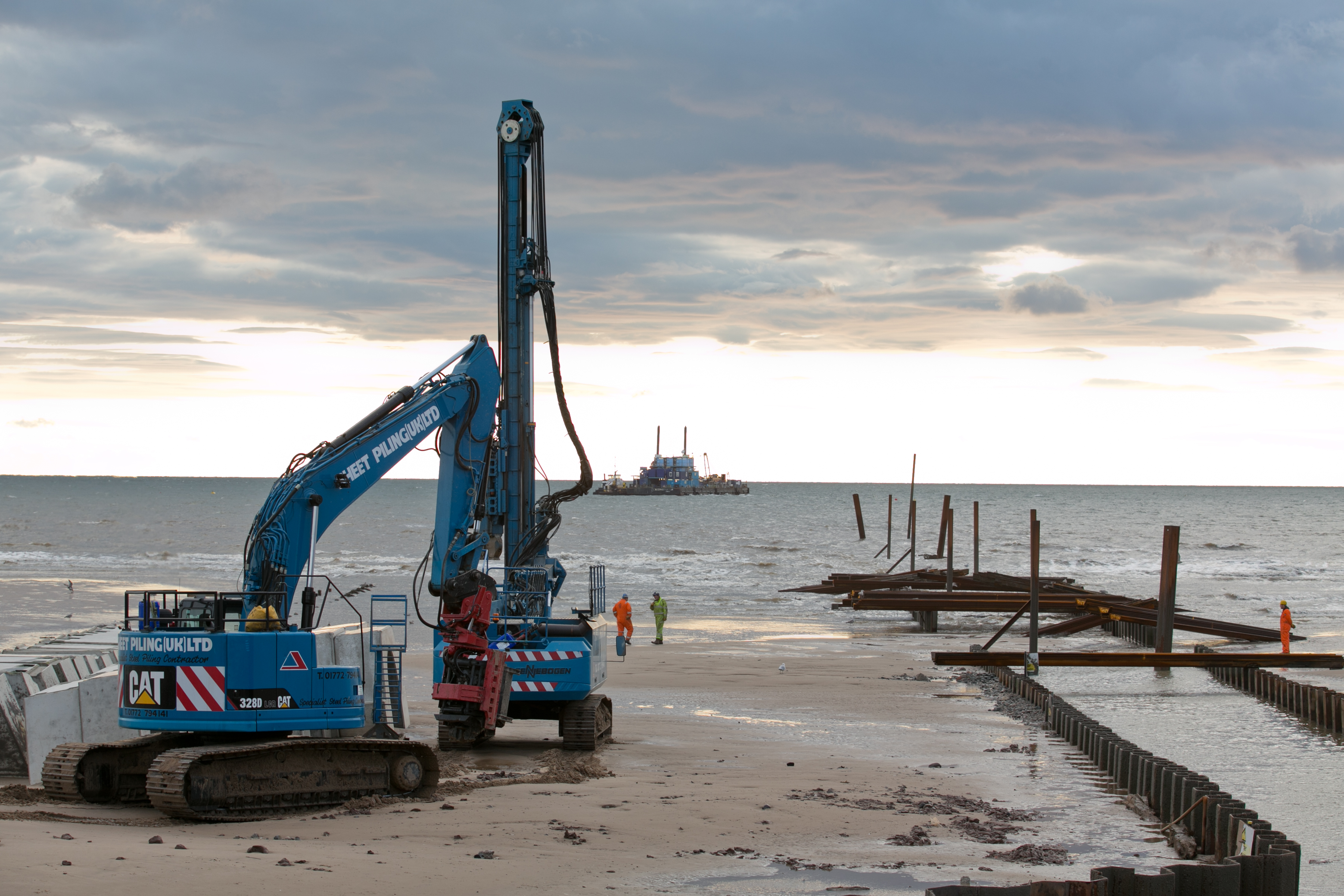 Harrowside Long Sea Outfall Sheet Pile Pipe Trench