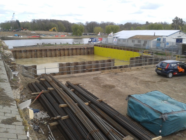 Walton Bridge Temporary Piling