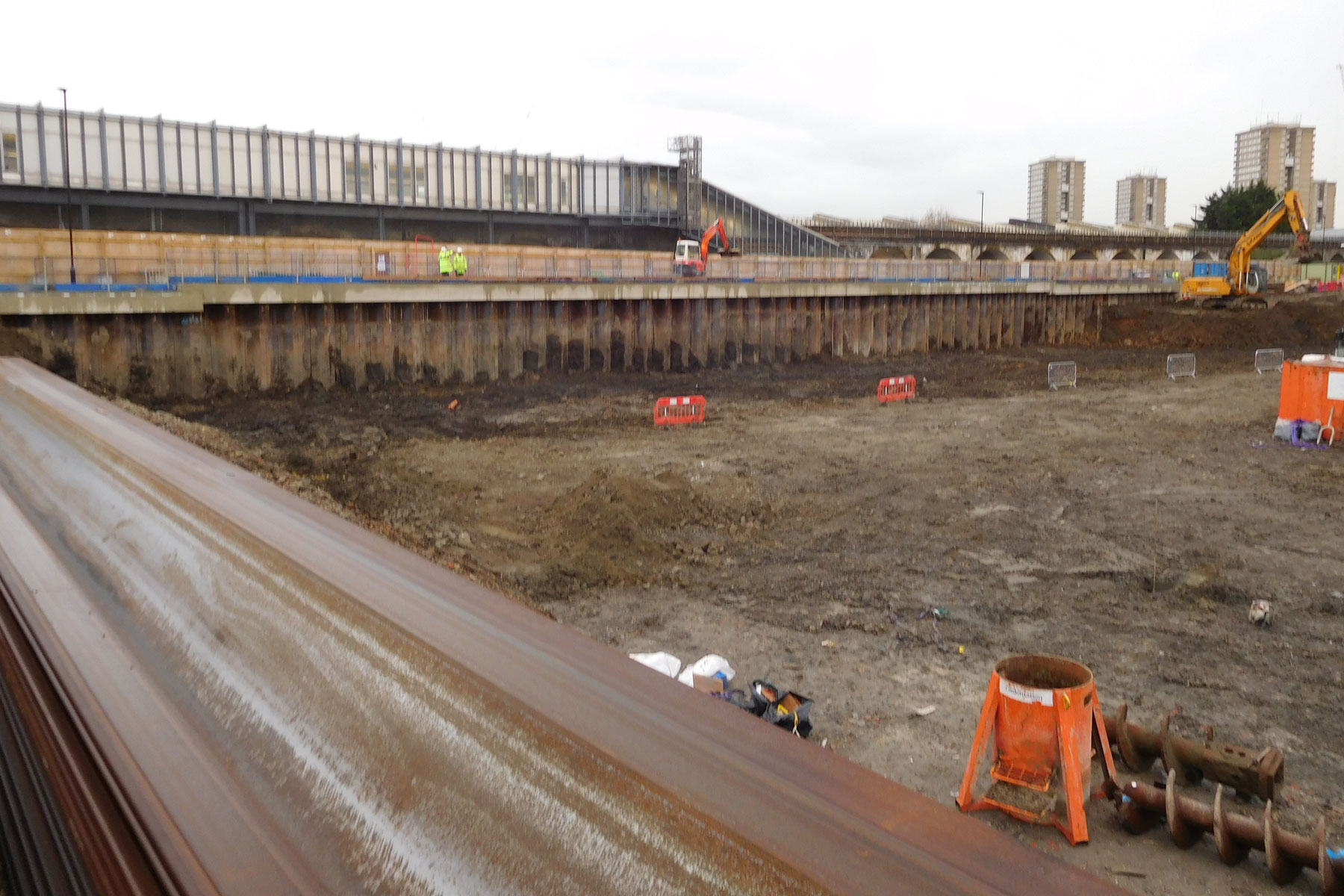 Sheet Piling @ Westfield White City