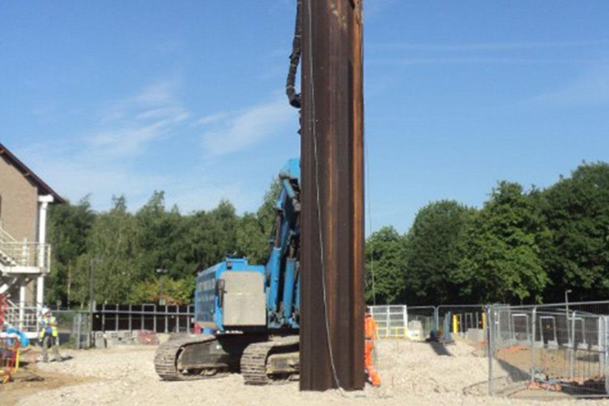 Permanent Steel Sheet Pile Retaining Wall, University of Kent