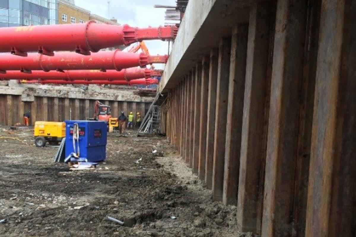 Permanent Sheet Piling Basement, Chelsea Island, London