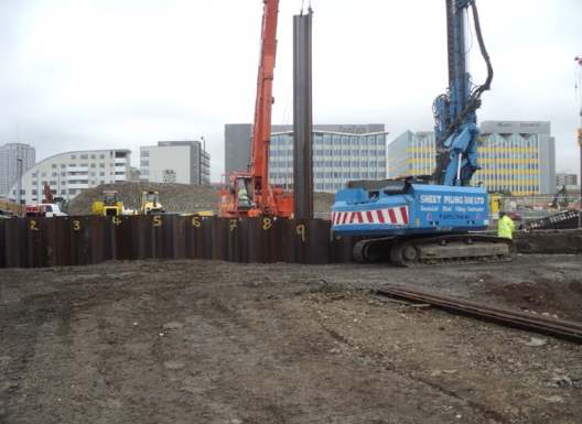Steel Intensive Sheet Pile Basements