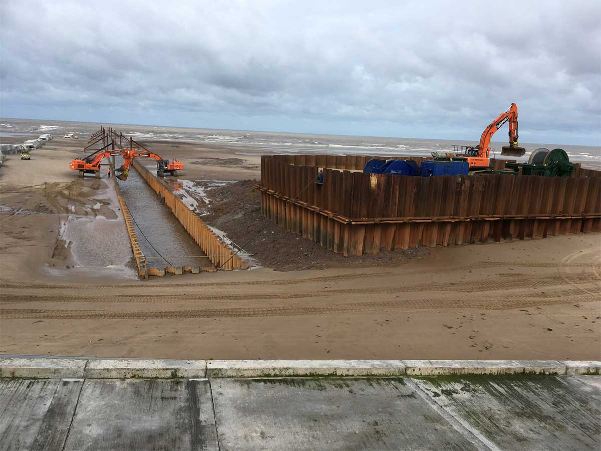 Long Sea Outfall Sheet Pile Cofferdam