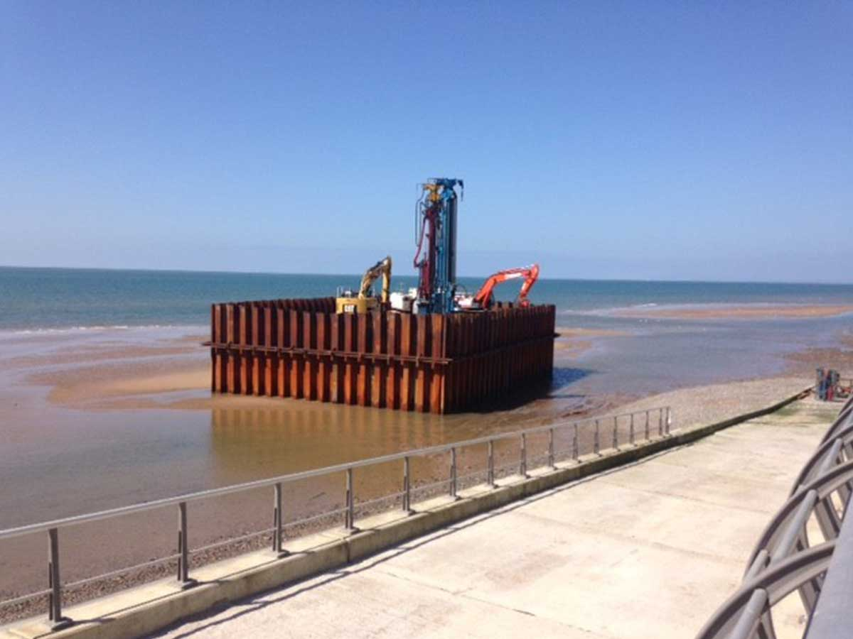 Long Sea Outfall Steel Sheet Pile Cofferdam