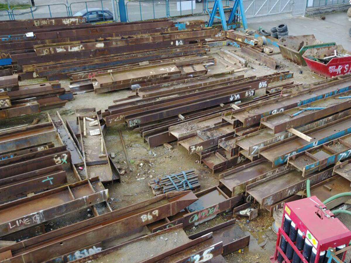 Sheet Piling (UK) Ltd Bracing Pile Stock Yard