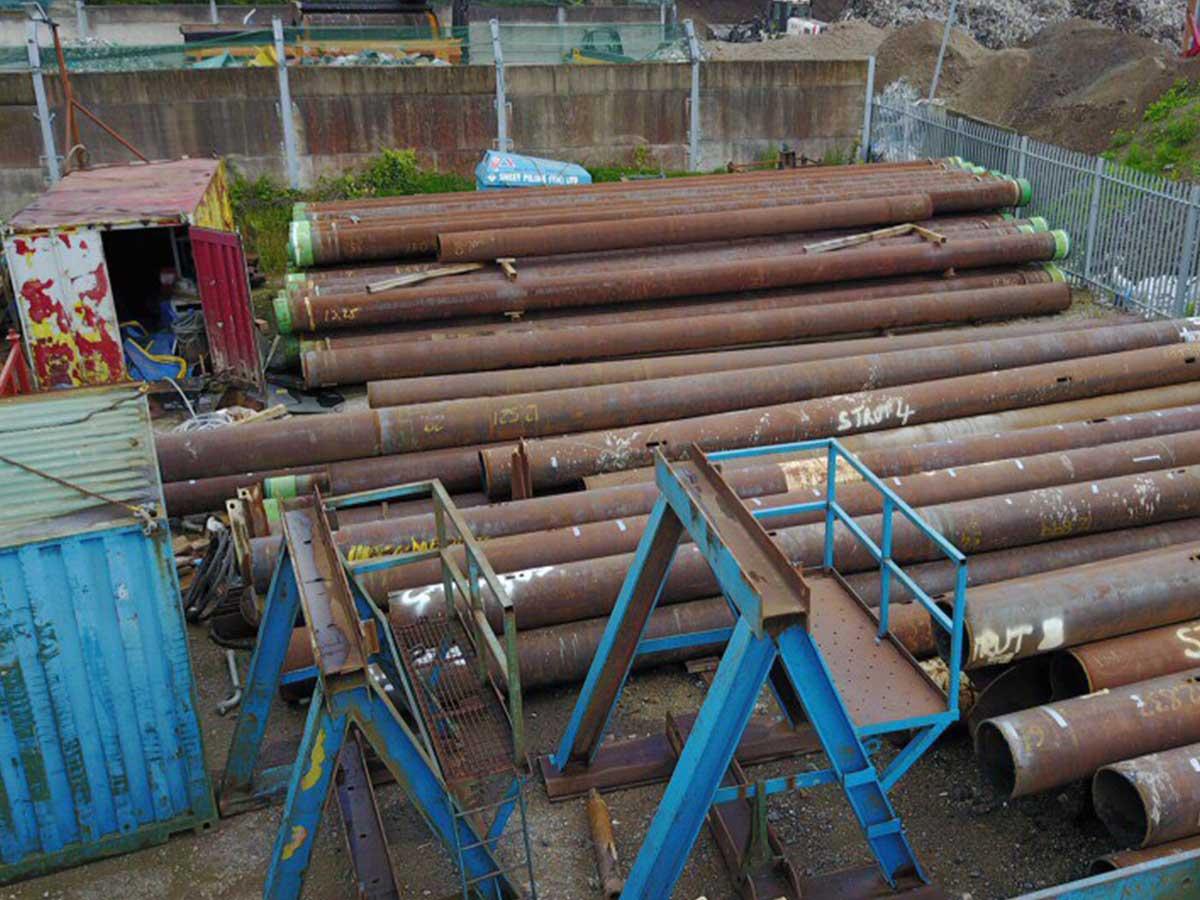 Sheet Piling (UK) Ltd Bearing Pile Stock, Preston, Lancashire