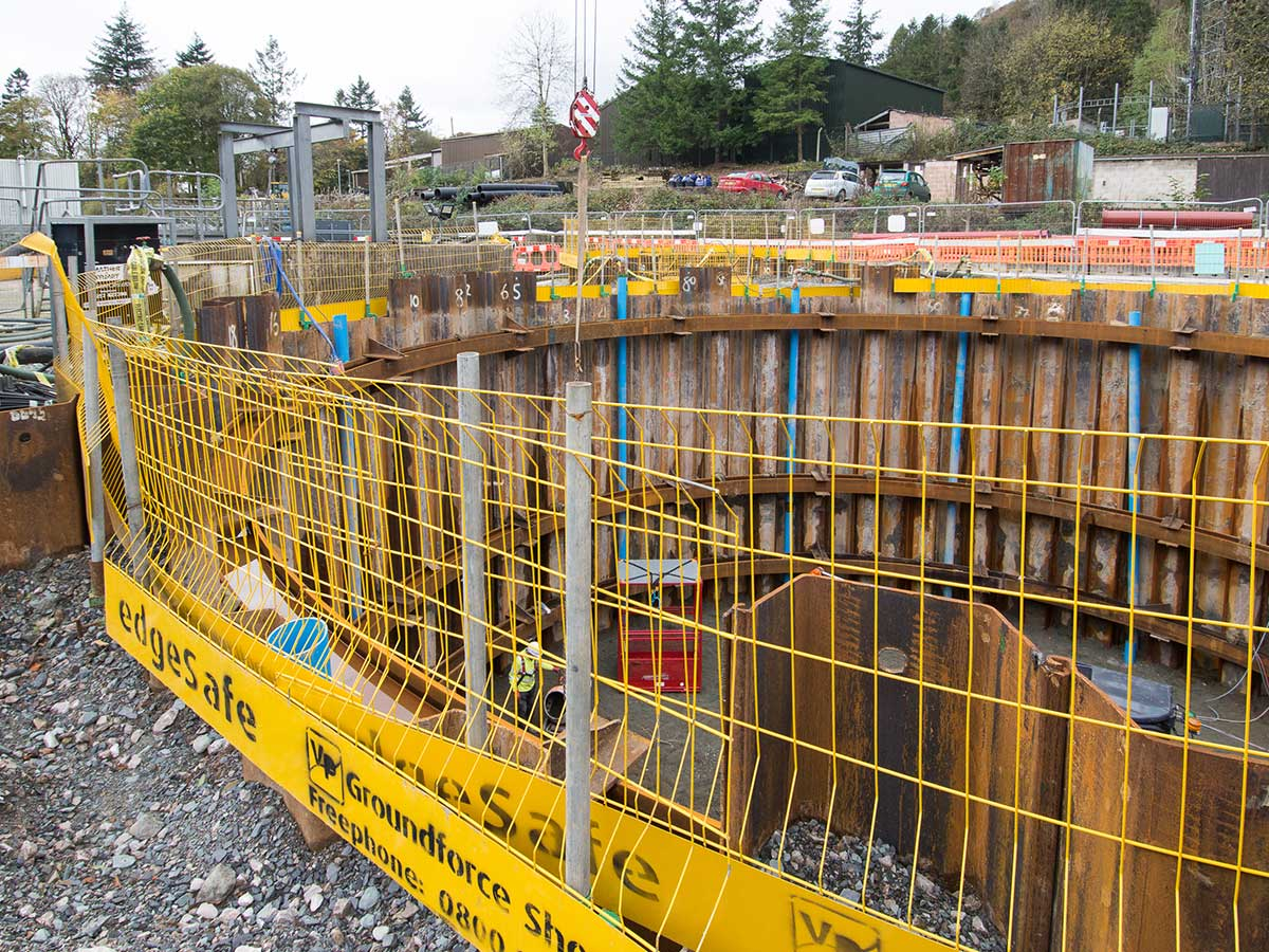 Temporary Steel Sheet Piles at Ambleside