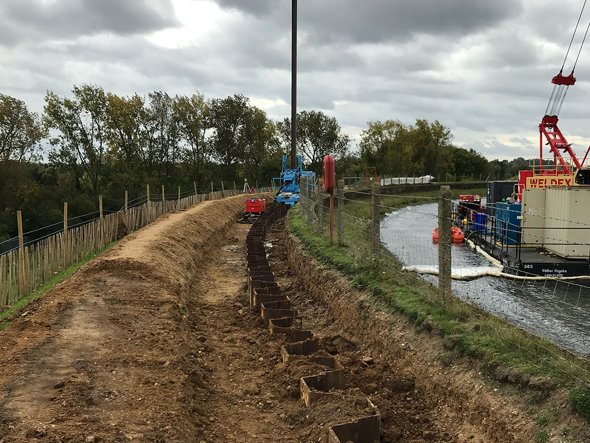 Island Barn Reservoir Sheet Pile Cut Off Wall