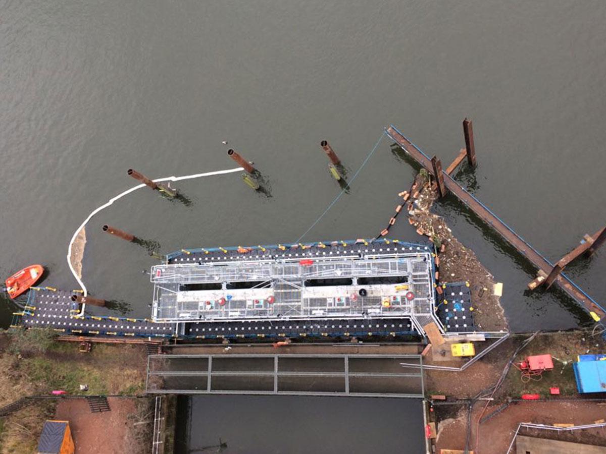 Tubular Fender Piles Thames Water