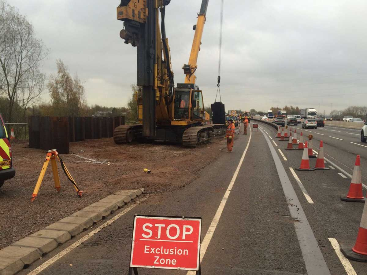 Sheet Piling Installation Motorway