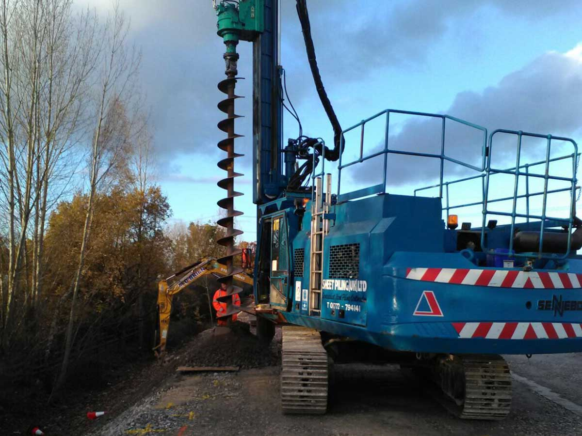 Smart Motorway Sheet Piling Installation