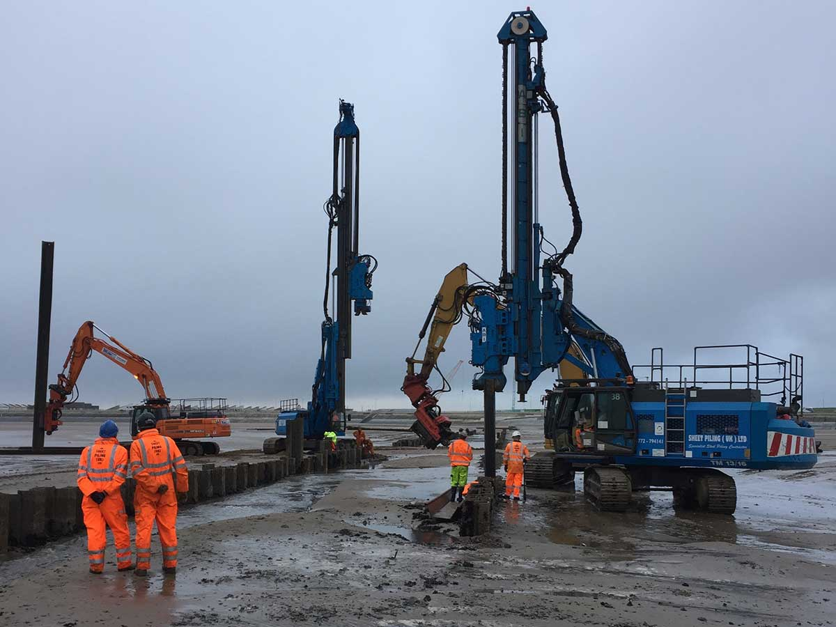 Sea Outfall Cofferdam Sheet Piling