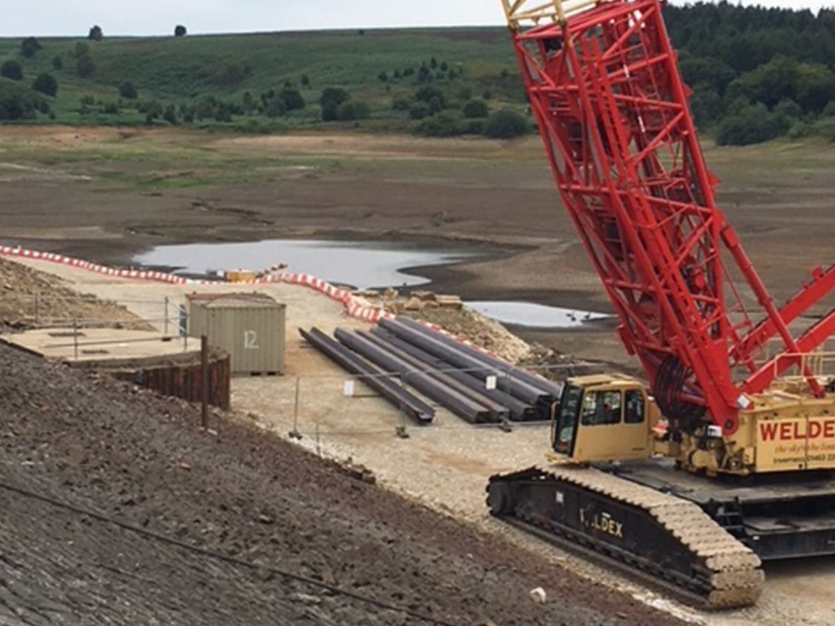 Steel Sheet Pile Cut Off Wall At Redmires Reservoir