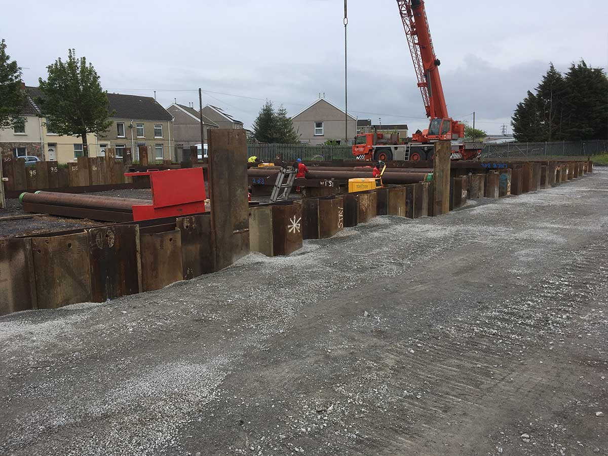Temporary Sheet Pile Cofferdam