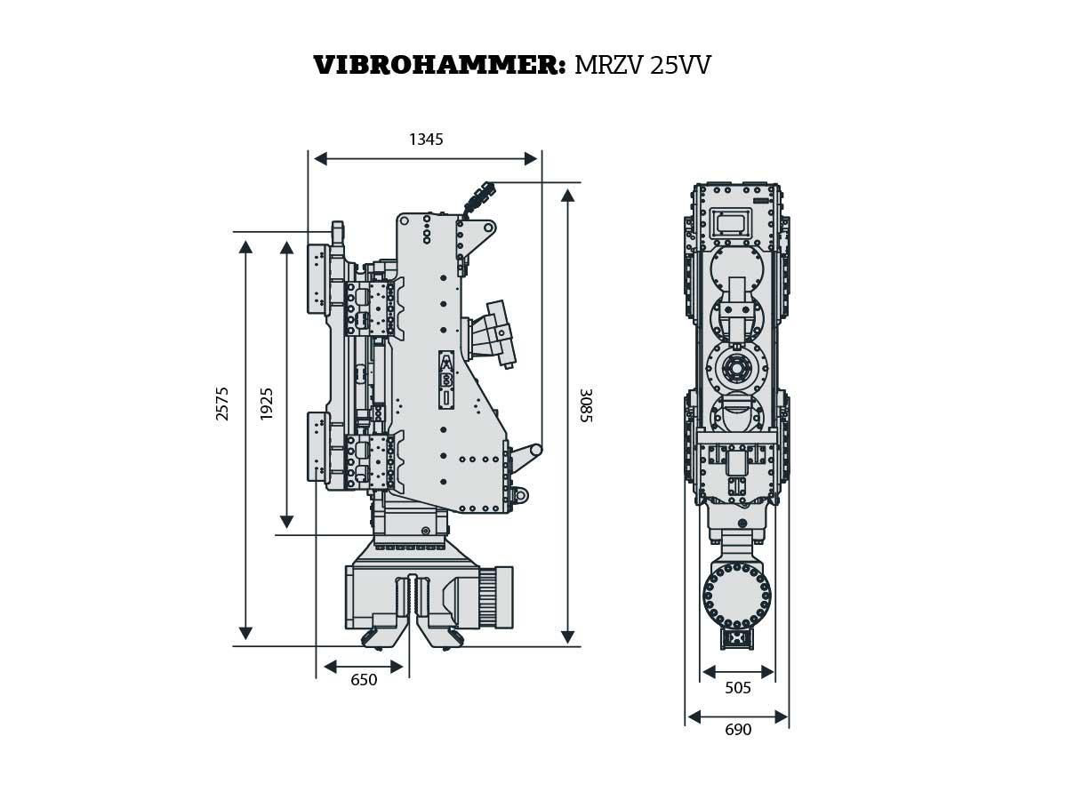 New MRZV 25VV Vibratory Hammer