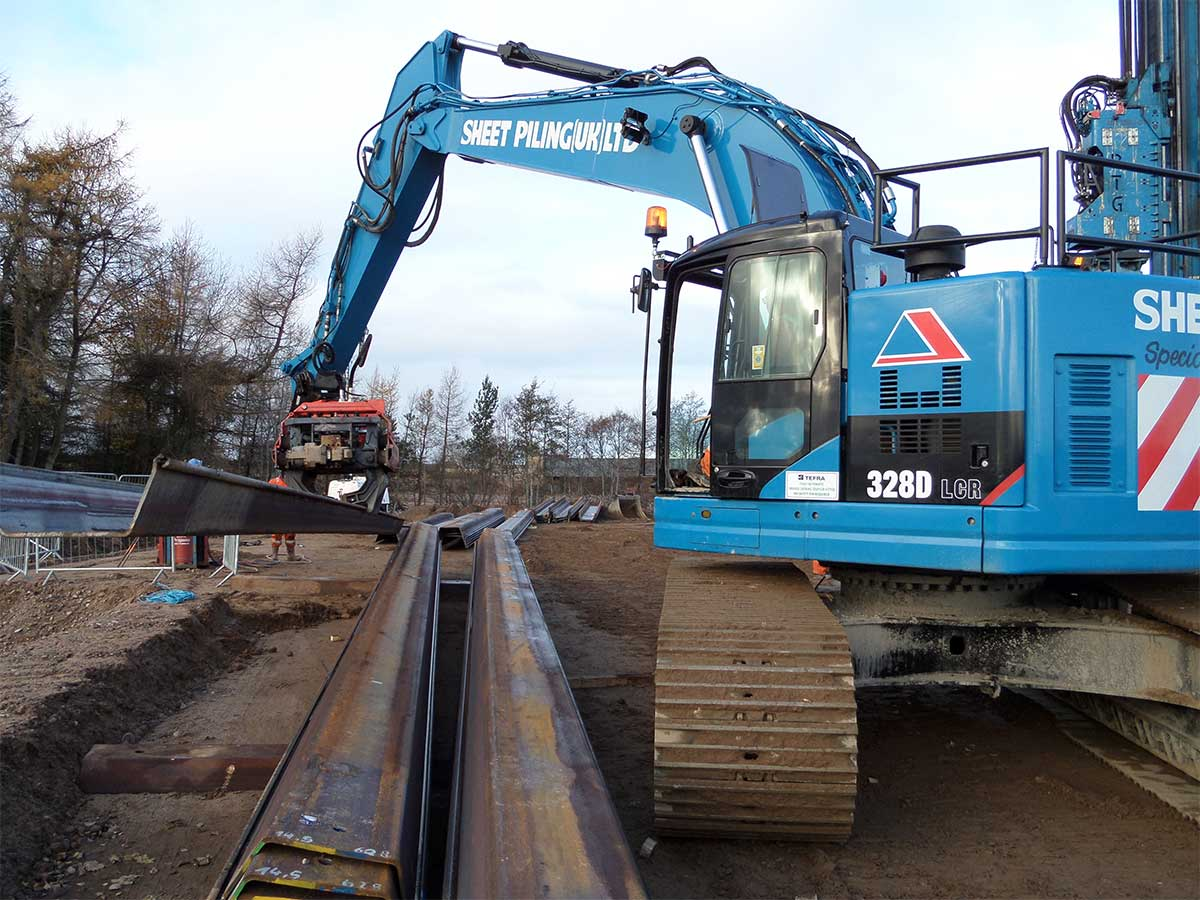 Energy and Geothermal Sheet Pile Installation