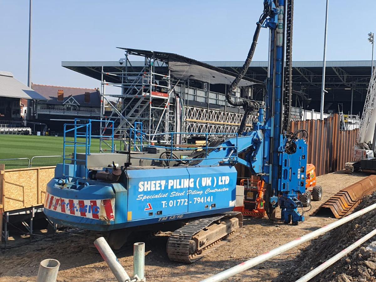 Construction work at London Soccer Stadia
